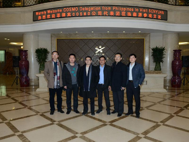 2017年1月21日,菲律宾COSMOYH亚虎真人|亚虎官网代表团莅临YH亚虎真人|亚虎官网参观指导。